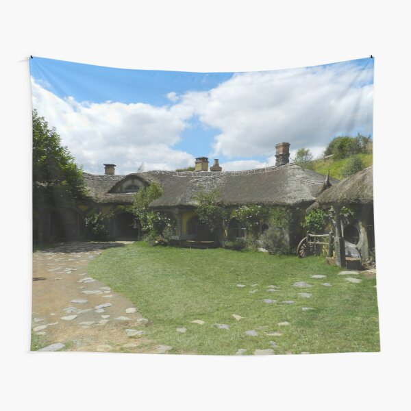 Front of the Green Dragon Inn Tapestry