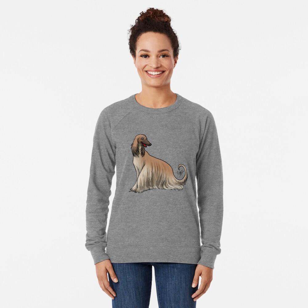 Afghan Hound - Red Lightweight Sweatshirt