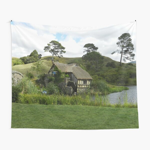 Hobbiton Millhouse in the Sun Tapestry