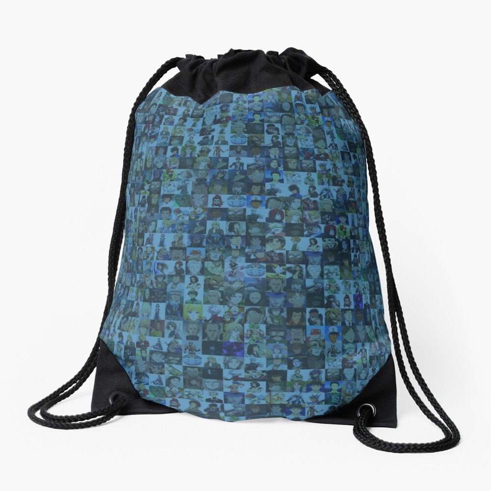 One Man, Many Voices Drawstring Bag
