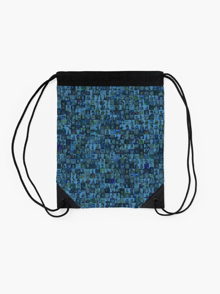 Alternate view of One Man, Many Voices Drawstring Bag