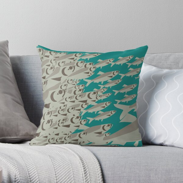 Coast Salish Herring Throw Pillow