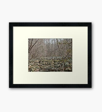 Devil's Potato Patch - Montgomery County - Pennsylvania Framed Print