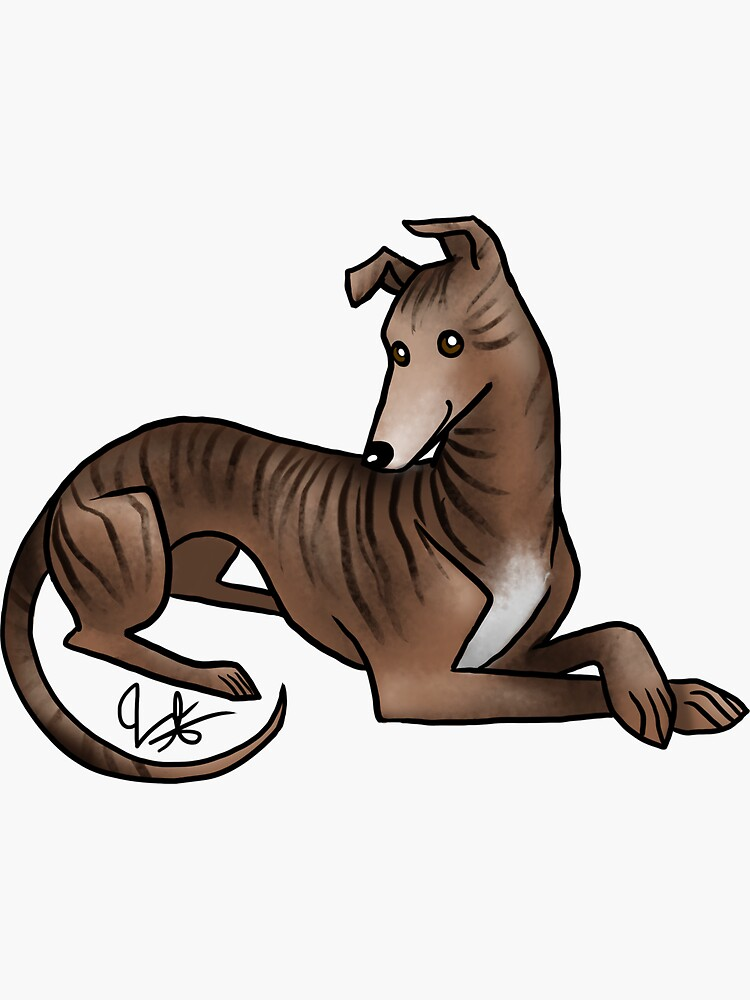 Greyhound - Brindle by jameson9101322