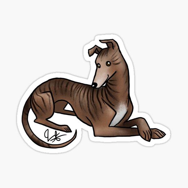 Greyhound - Brindle Sticker