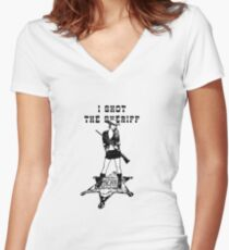 I Shot The Sheriff Women's Fitted V-Neck T-Shirt
