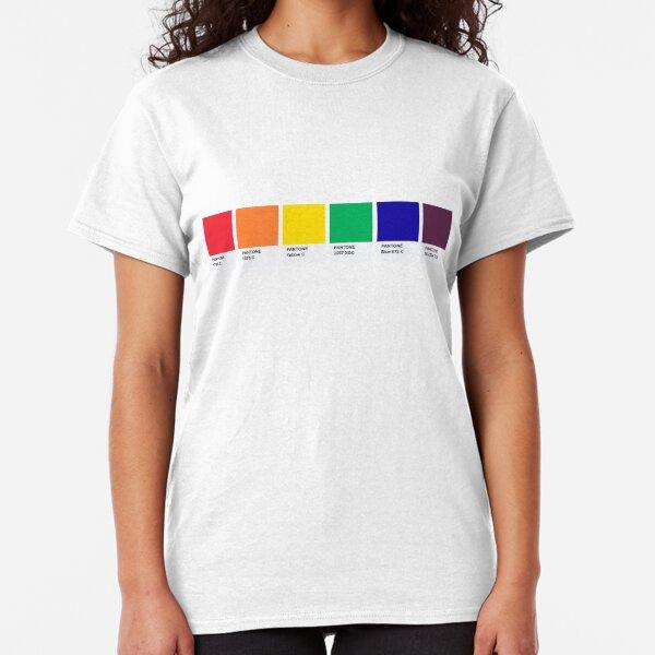 LGBT COLOR PANTONE PALLETE GAY COMMUNITY DESIGN Classic T-Shirt