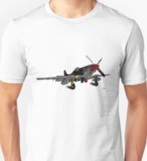 P-51D Mustang - Red Tails - Tuskegee Airmen Unisex T-Shirt