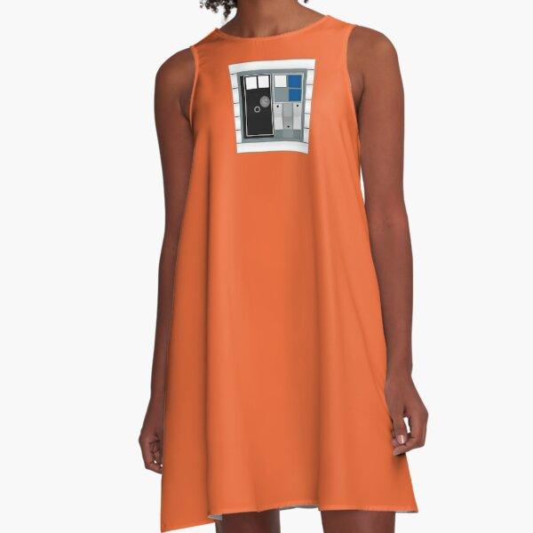 Space Pilot Panel A-Line Dress