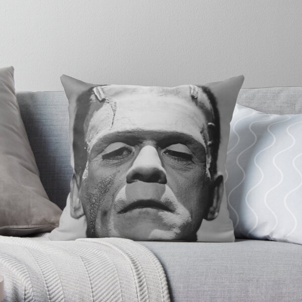 Frankenstein's Monster Karloff Throw Pillow