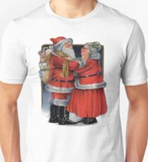 Vintage Mr and Mrs Claus Unisex T-Shirt