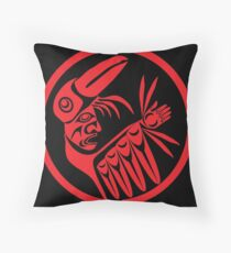 Trickster Raven Transformation  Throw Pillow