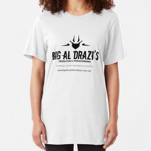 Big Al Drazi's Demolition & Terraforming Slim Fit T-Shirt