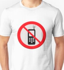 No mobile telephones.  T-Shirt