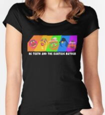 Dr Teeth and the Electric Mayhem Rainbow (The Muppets) Women's Fitted Scoop T-Shirt