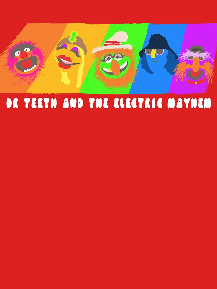 Dr Teeth and the Electric Mayhem Rainbow (The Muppets) | Unisex T-Shirt