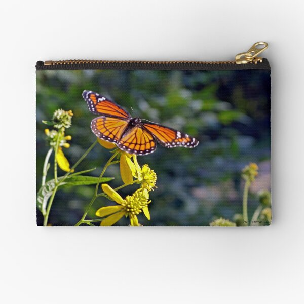 Viceroy Butterfly on Tickseed Zipper Pouch