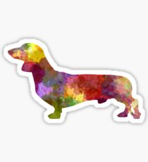 Dachshund in watercolor Sticker