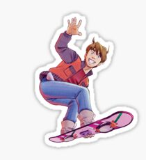Mcfly on Hoverboard Sticker