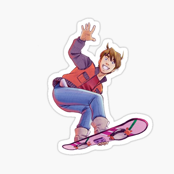 Mcfly on Hoverboard Pegatina