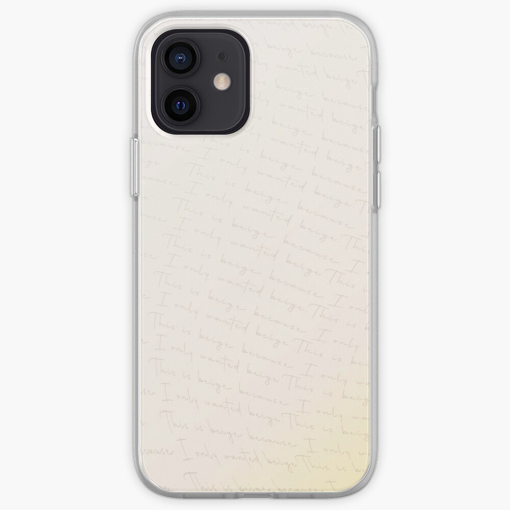 This is beige because all I wanted was beige! iPhone Case & Cover