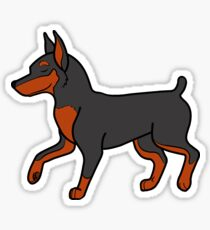 Black Miniature Pinscher Sticker