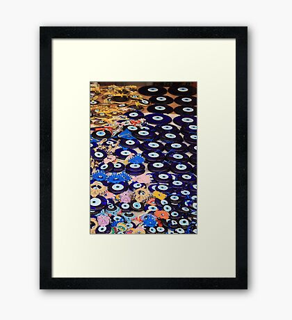 Protection From The Evil Eye - Boncuk Amulet Framed Print