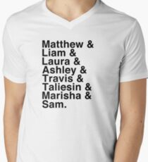 The Cast of Critical Role (Variant 2) - Helvetica List Men's V-Neck T-Shirt