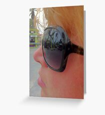 Knotts Berry Farm - in reflection... Greeting Card
