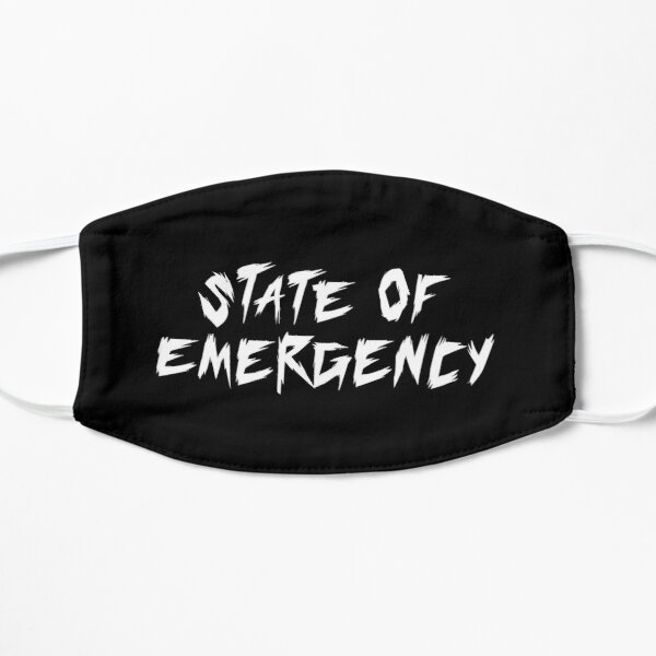 Estado de emergencia Hip Hop Rap Mascarilla plana