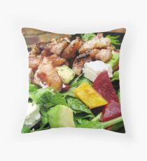 Honey Soy Chicken Salad Throw Pillow