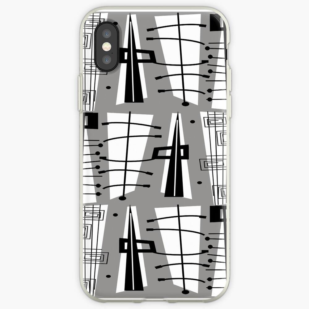 Mid-Century Atomzeit iPhone-Hülle & Cover