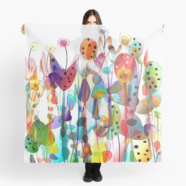 Summer Garden Flowers Scarf