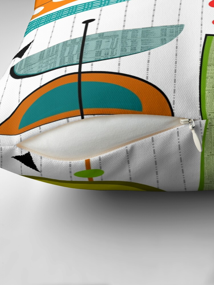 Alternate view of Mid-century Modern Abstract #55 Throw Pillow