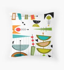 Mid-century Modern Abstract #55 Throw Pillow