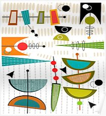 Mid-century Modern Abstract #55 Poster