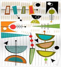 Mid-Century Moderne Zusammenfassung # 55 Poster