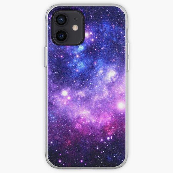 Purple Blue Galaxy Nebula iPhone Soft Case