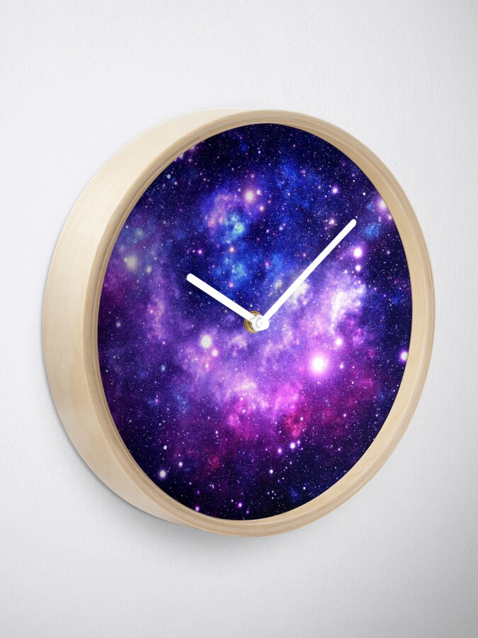 Alternate view of Purple Blue Galaxy Nebula Clock