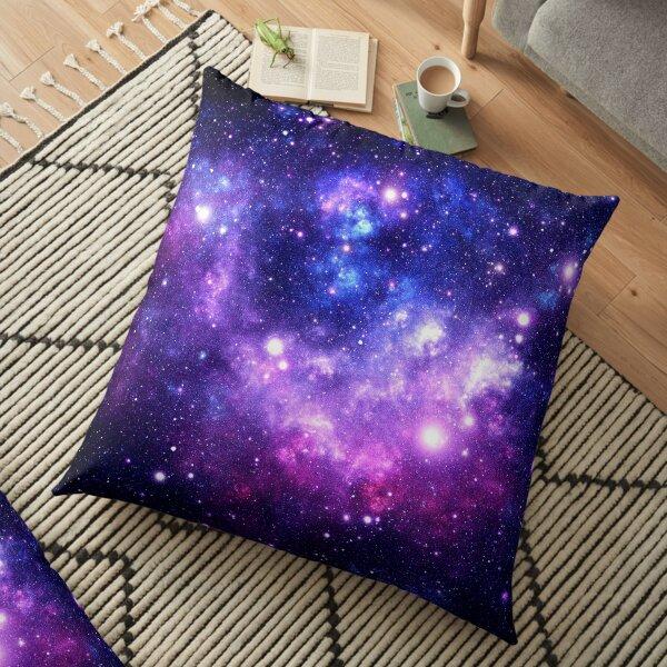 Purple Blue Galaxy Nebula Floor Pillow
