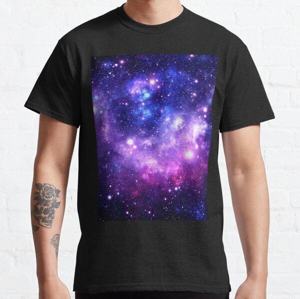 Purple Blue Galaxy Nebula Classic T-Shirt