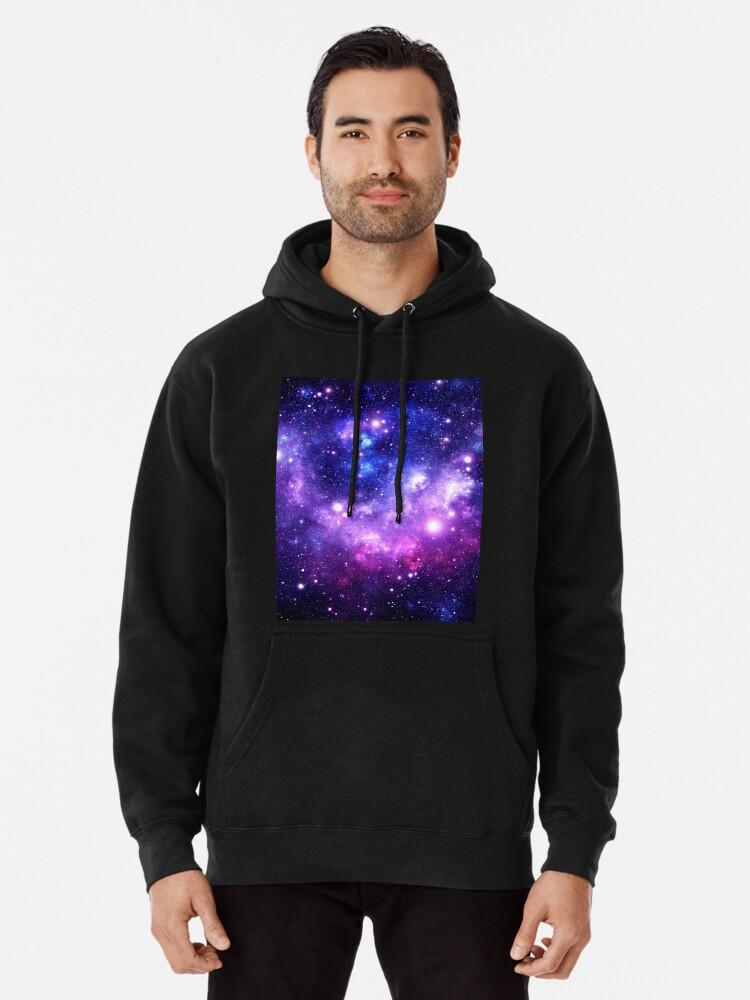 Alternate view of Purple Blue Galaxy Nebula Pullover Hoodie