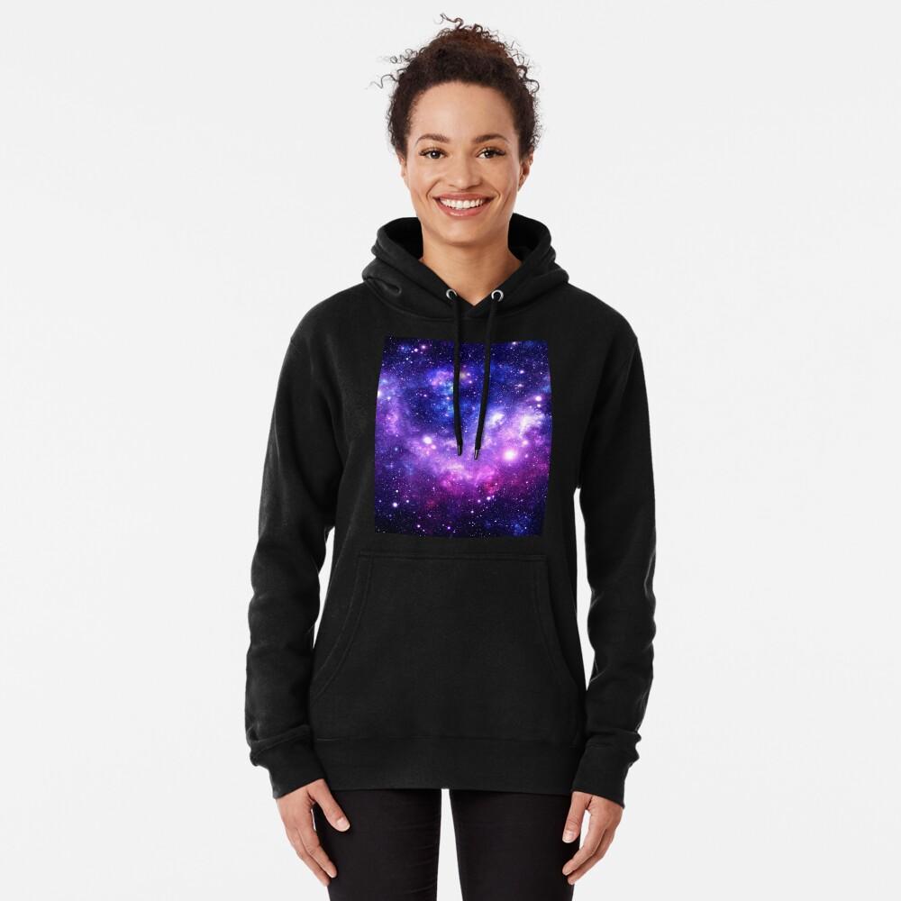 Purple Blue Galaxy Nebula Pullover Hoodie