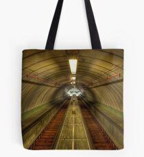 Pedestrian Tunnel Escalators Tote Bag