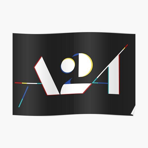 A24 Logo 3D Poster
