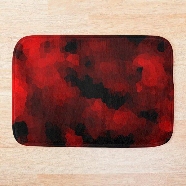 Black red polygonal background Bath Mat