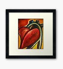 The heart of nursing Framed Print