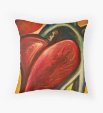 The heart of nursing Throw Pillow
