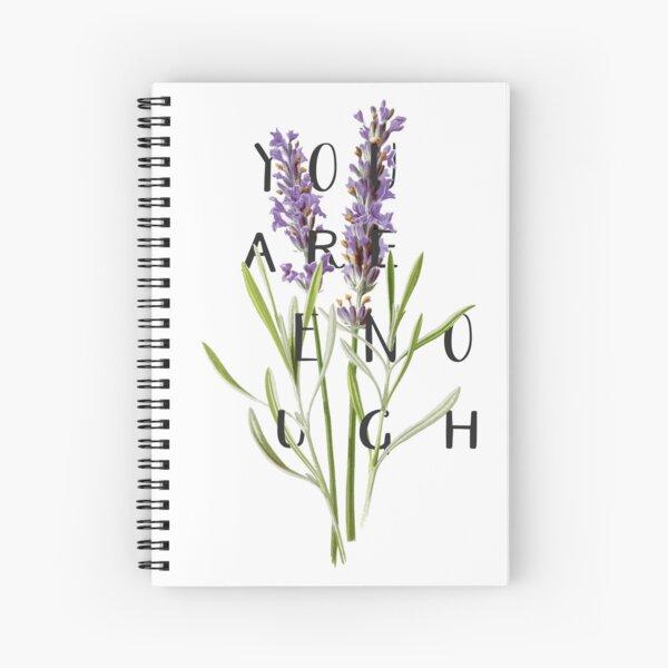 Lavender - Botanical Illustration  Spiral Notebook