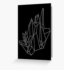 Crystal Black Greeting Card